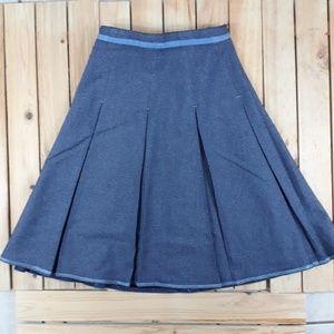 Gap Pleated Skirt Glittred blue Girls size 10